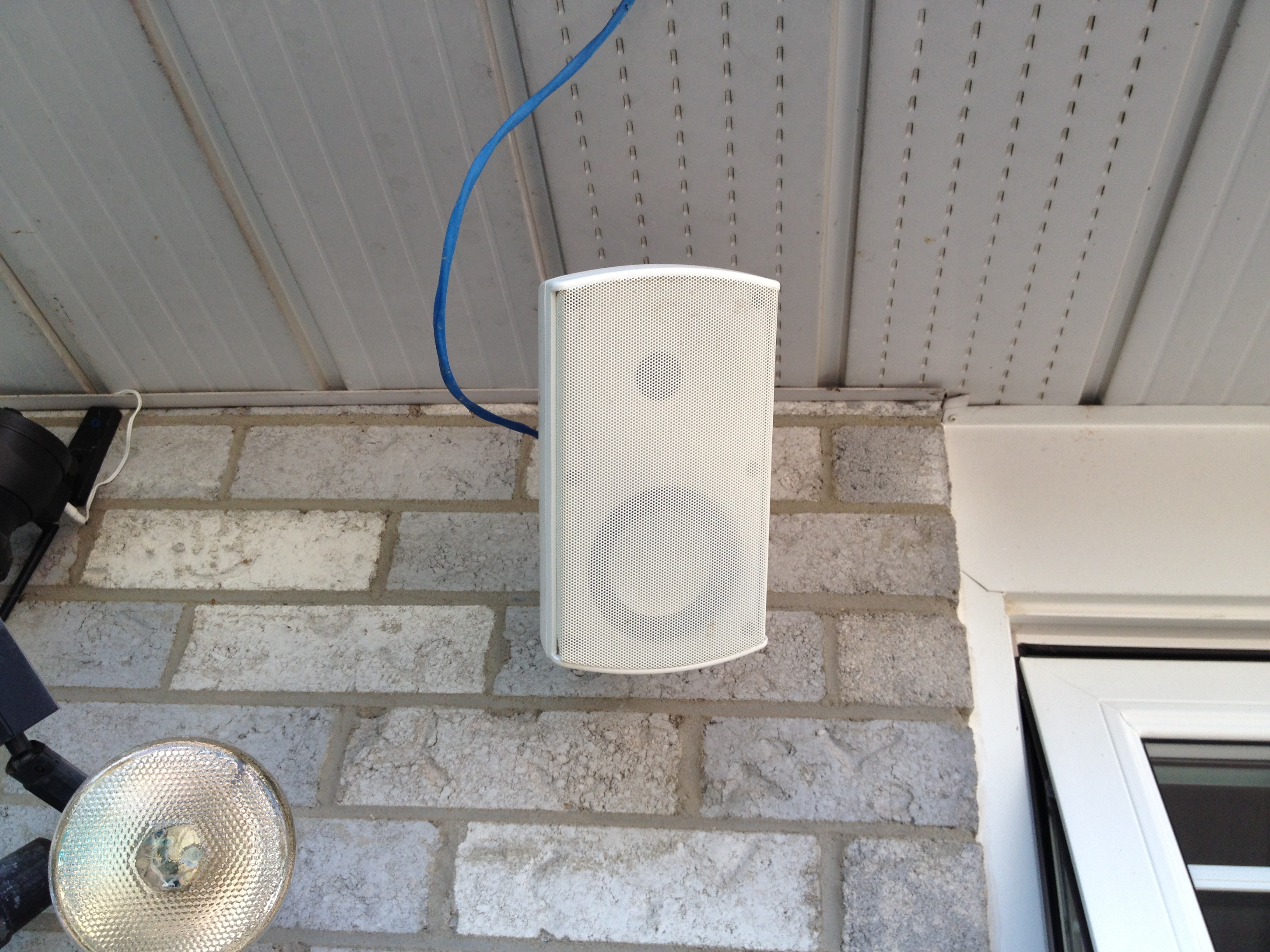 Airplay Ikea Butchers Block Hack Wiring Outdoor Speakers To Receiver I Cut The Conduit Ran Speaker Wires And My Ip Camera Through It Attached Pergola